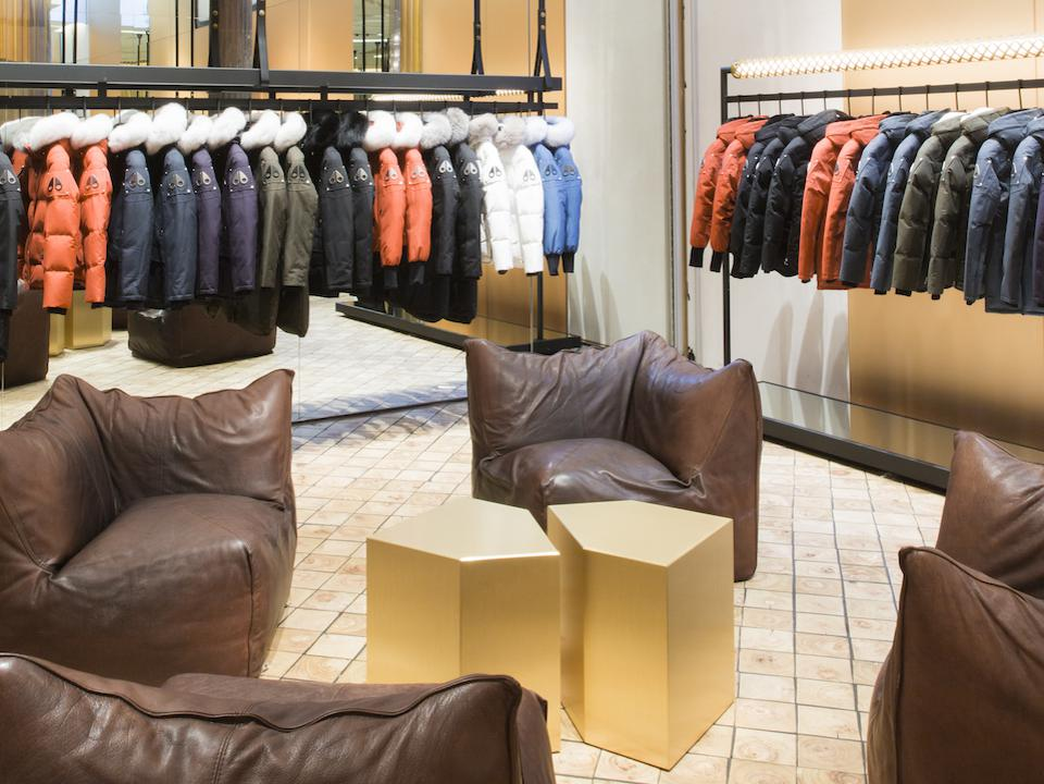 Moose Knuckles flagship store in the SoHo neighborhood of New York