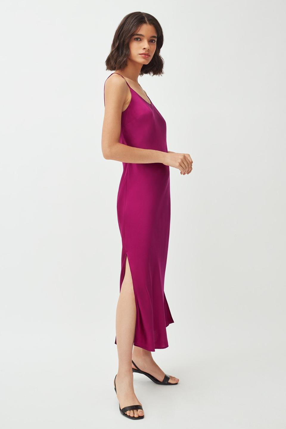 Amethyst Silk Charmeuse from Cuyana