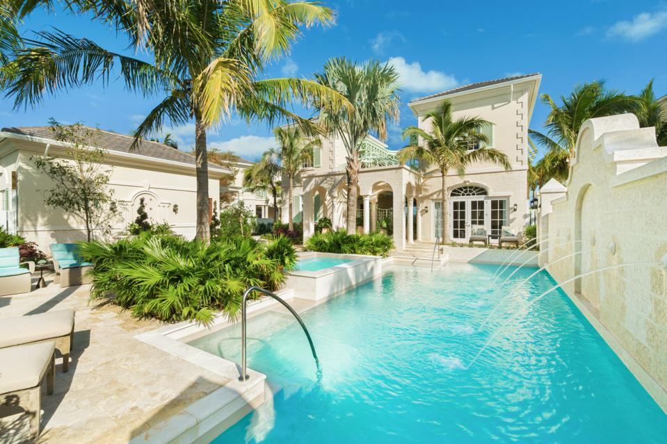 Villa and pool in Turks and Caicos.