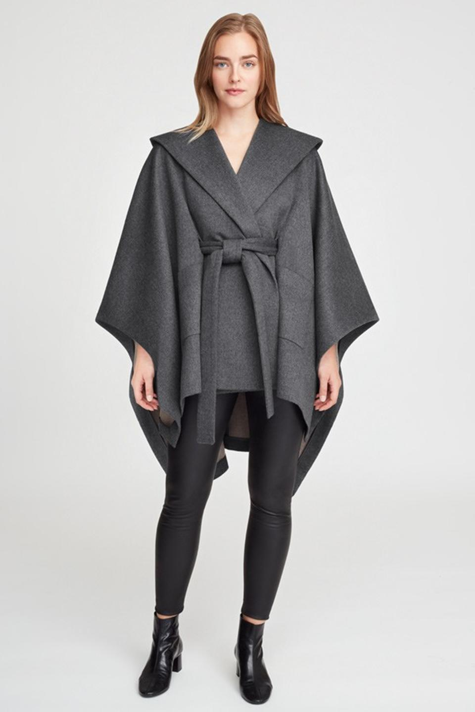 Gray Soft Wool Cape by Cuyana