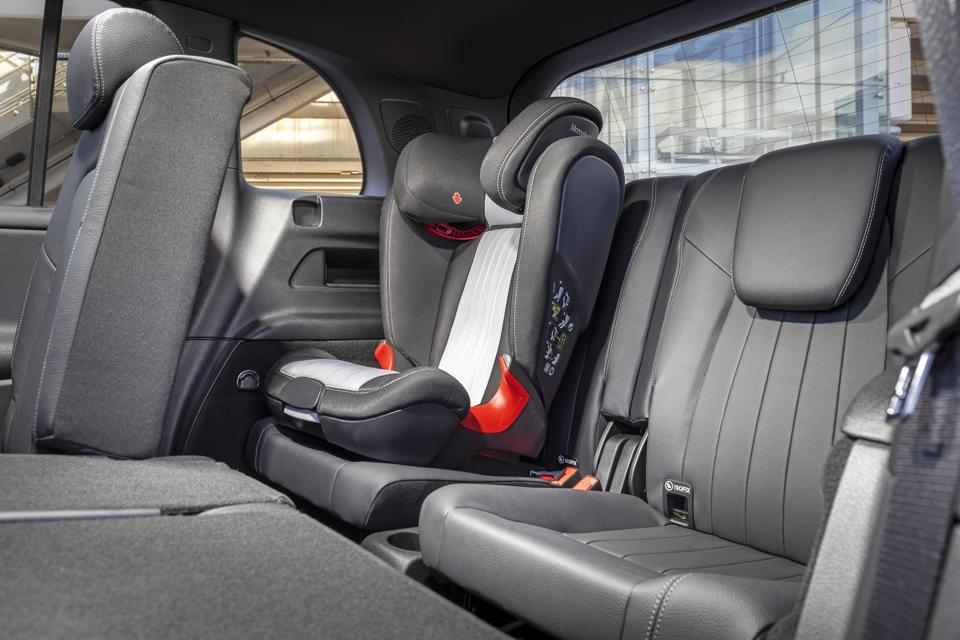 Benz claims 168cm-tall people can comfortably fit in the third row of seats.