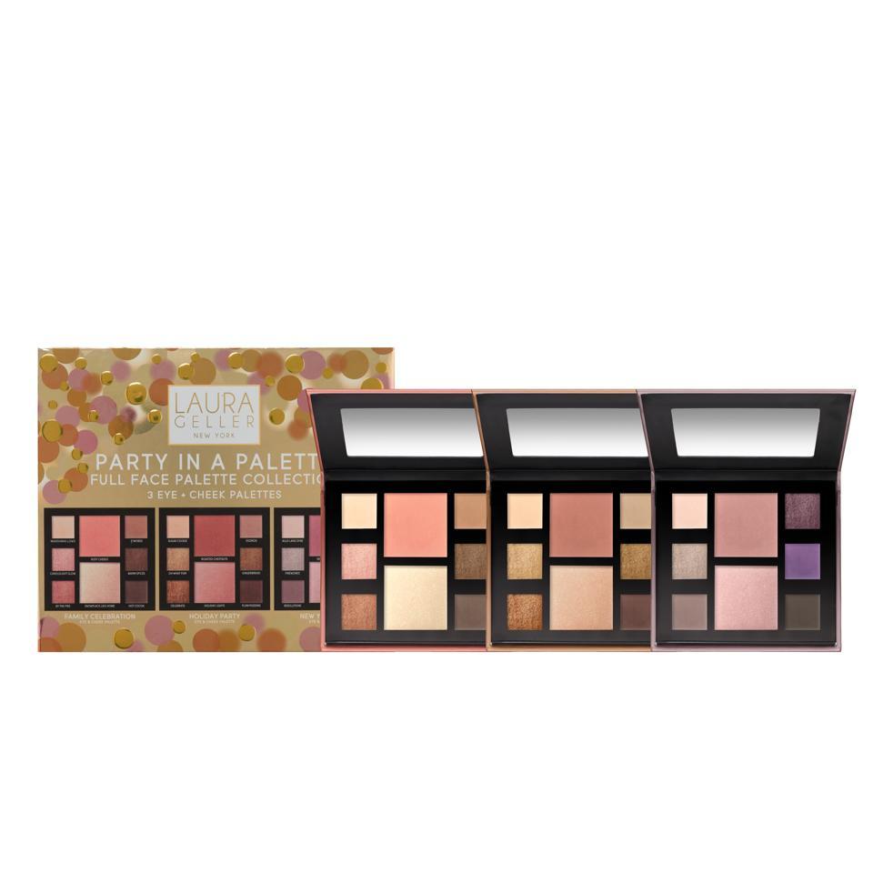 Laura Geller Party in a Palette Eyeshadow, Blush & Highlighter Palette Trio