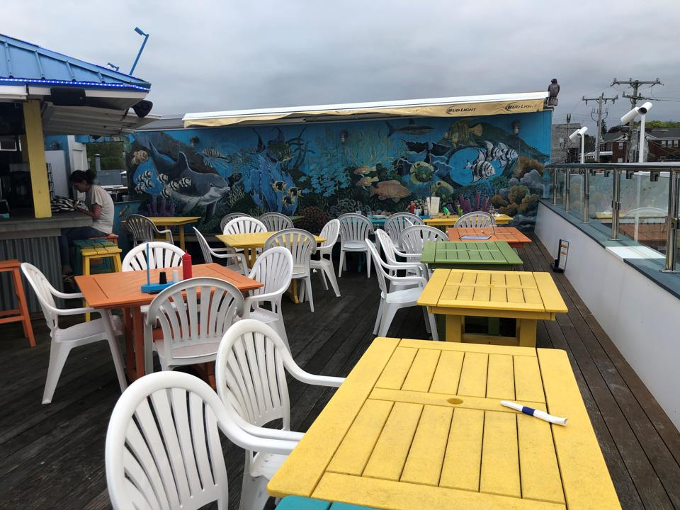 The rooftop bar at The CabbyShack.