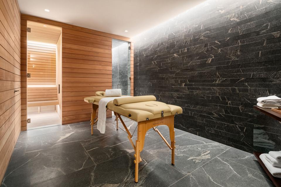 Sauna and treatment room