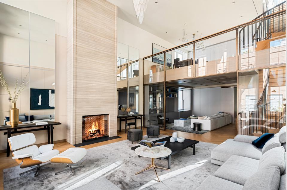 Double-height great room