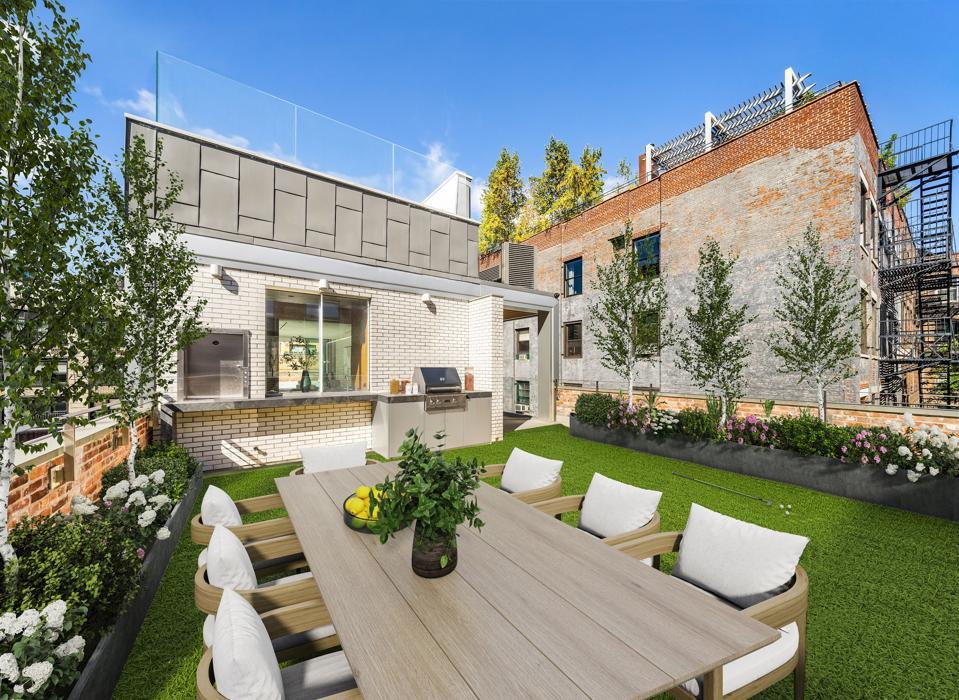 Lawned terrace