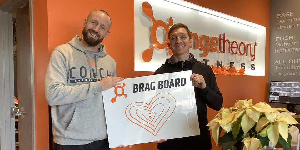 Orangetheory Fitness Bedford head coach Michael Hinchcliffe and studio manager Connor Yeaney.