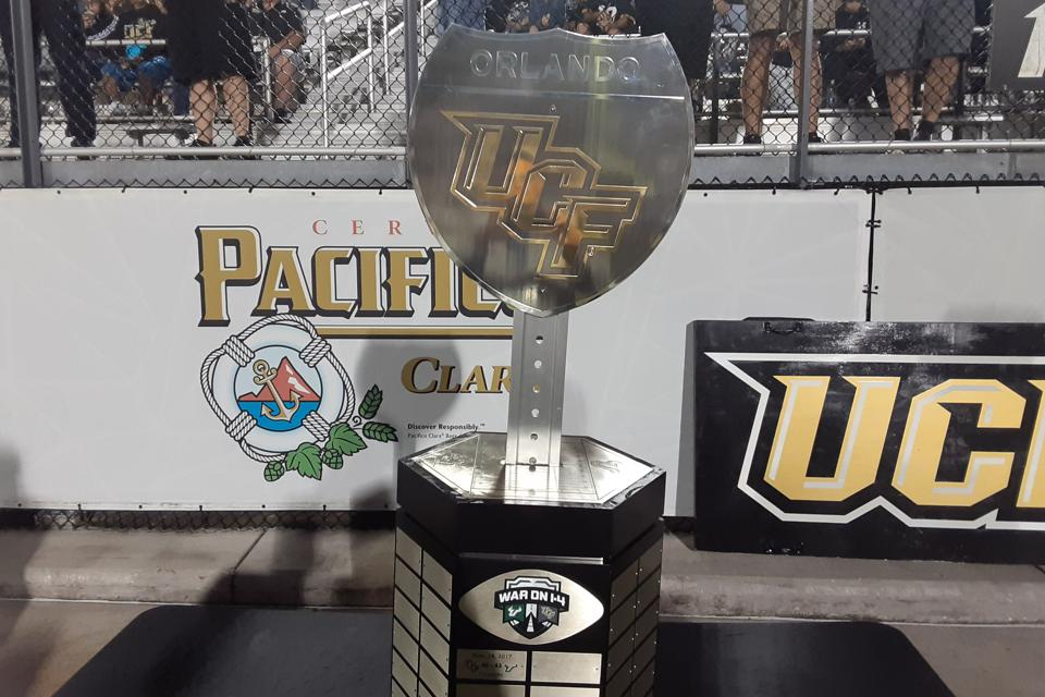 War on I-4 Trophy goes to the winner of UCF and USF