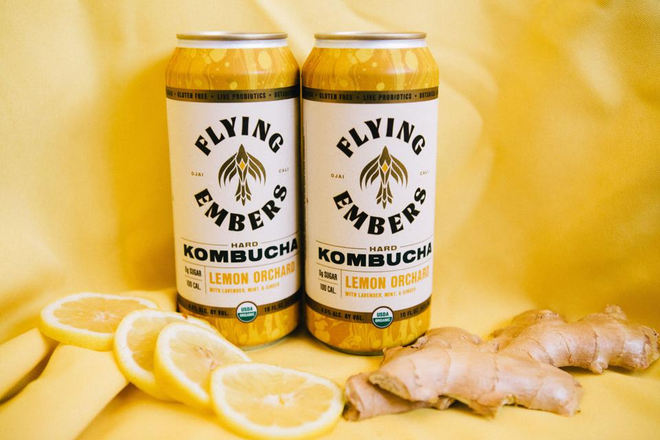 Flying Embers hard kombucha comes in a variety of flavours.