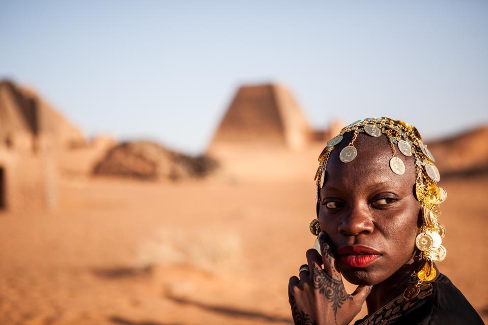 Jessica Nabongo in Meroe, Sudan