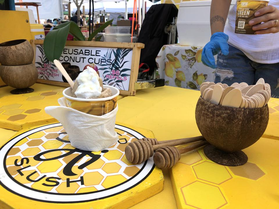 Wicked Hi Slush Coffee Honey Slush with coconut cream