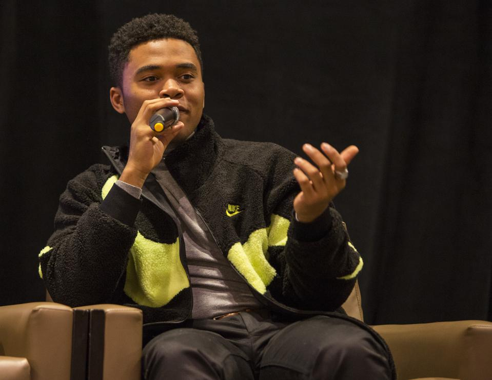 Actor Chosen Jacobs discusses the It franchise during a Days of the Dead panel discussion. Saturday, November 23, 2019 at the Crowne Plaza Hotel in Rosemont, IL (Photo by Barry Brecheisen)