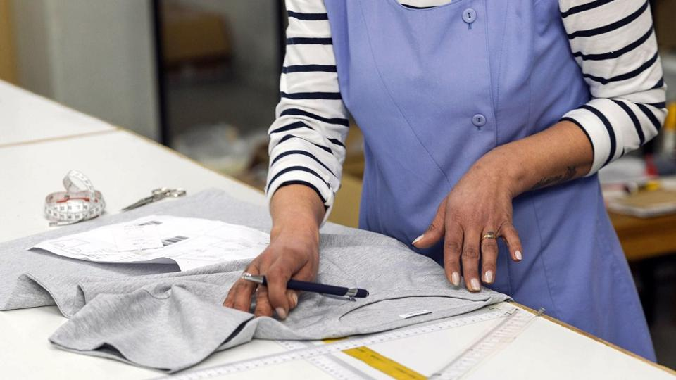 Zero-waste garments are created under fair working conditions.