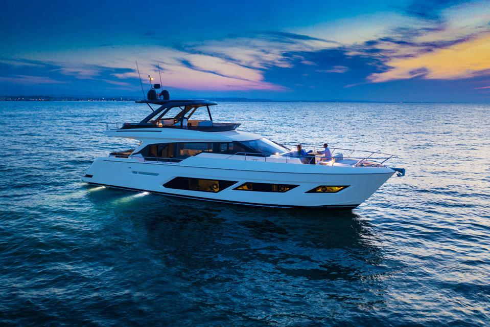 The Ferretti Yacht 720 is designed to be a ″villa on the water.″