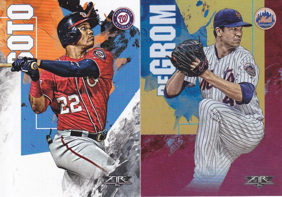 2019 Topps Fire Baseball Cards.