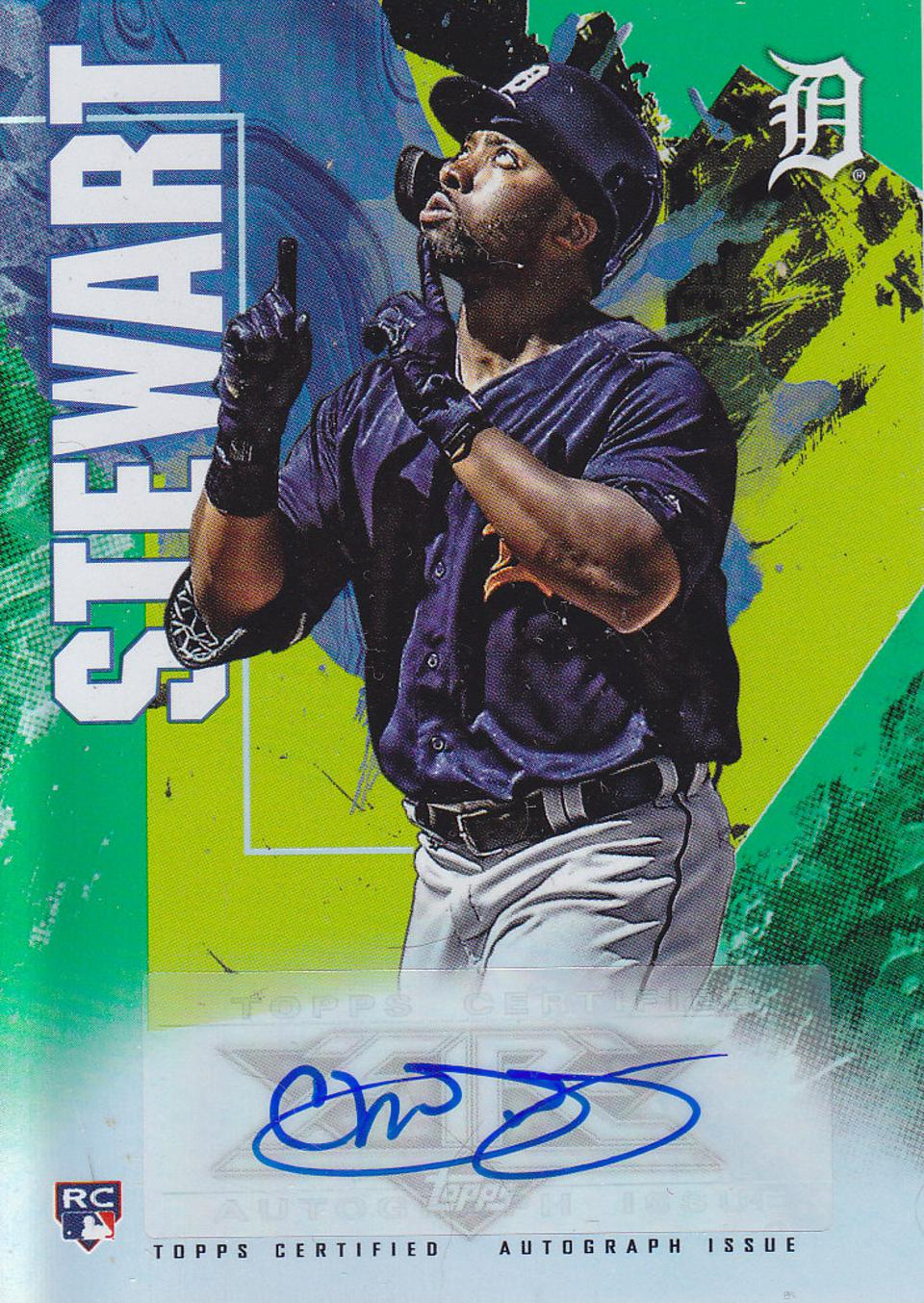 2019 Topps Fire Christin Stewart autographed card.