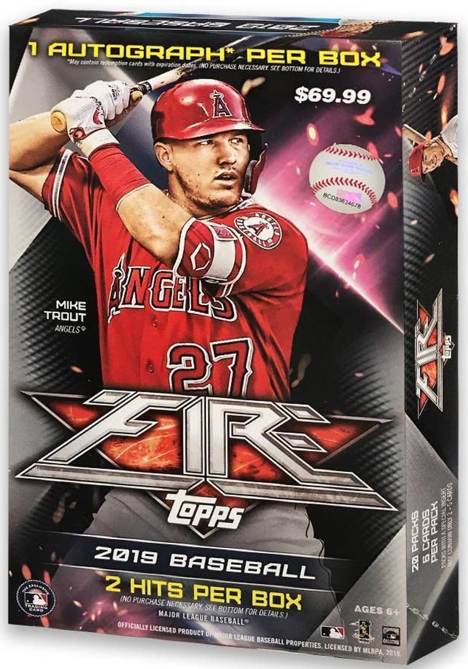 2019 Topps Fire Baseball Box.