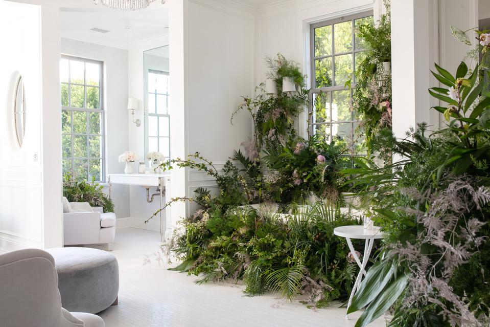 Garden bathroom salon