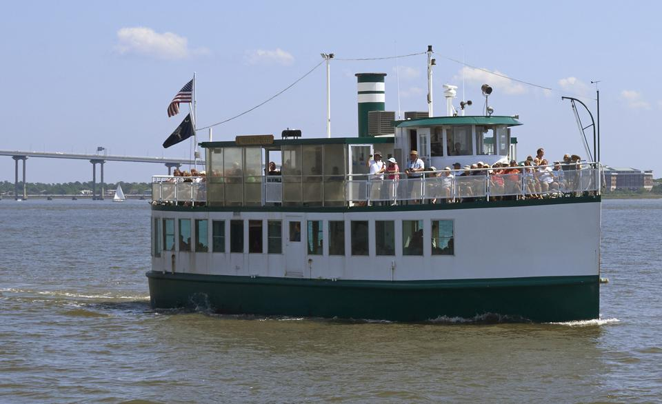 Sightseeing boat in Charleston harbor