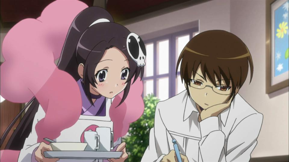 Elsie and Keima of ″The World God Only Knows.″