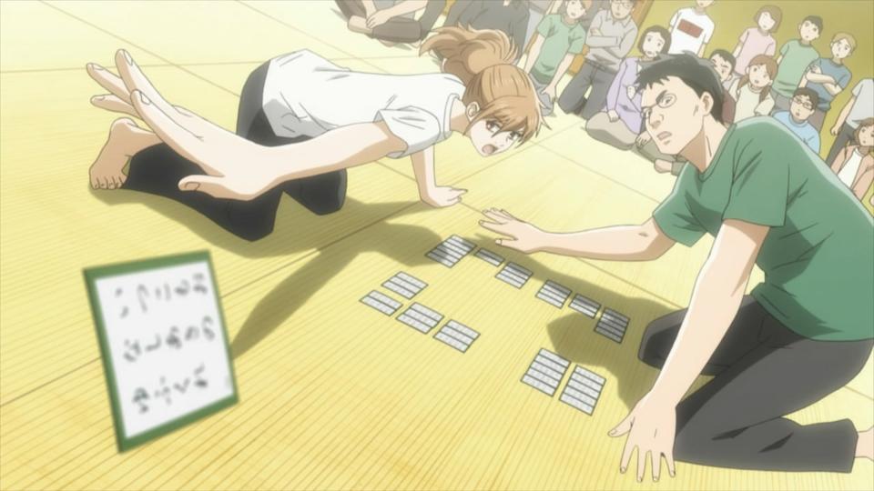 Chihaya takes a card.