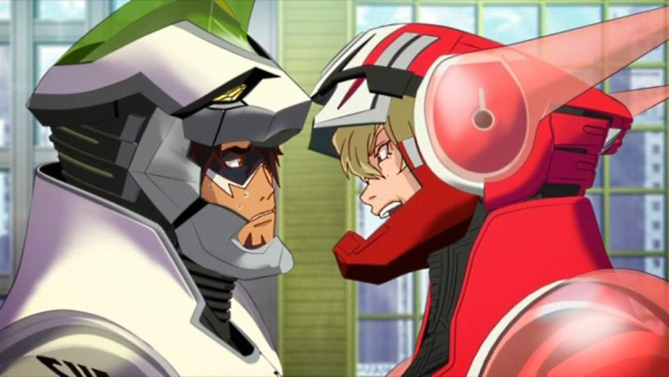 The titular characters of ″Tiger & Bunny″