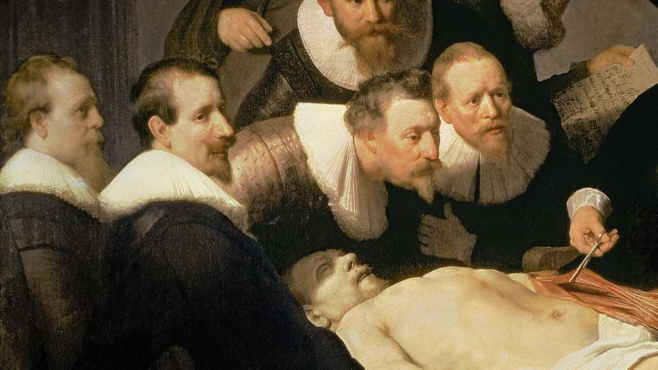The Anatomy Lesson of Dr. Nicolaes Tulp, 1632 (oil on canvas)
