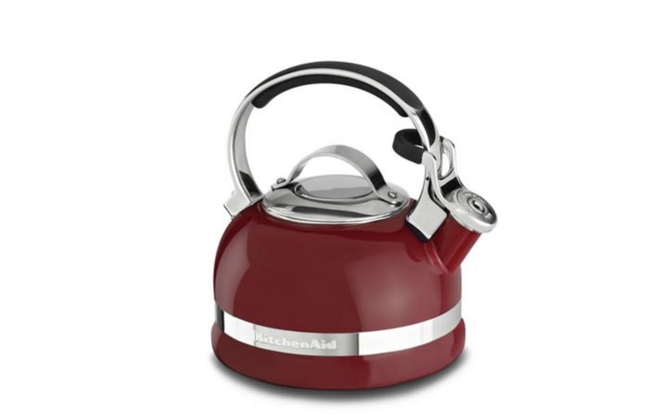 Kettle with Stainless Steel Handle and Trim Band
