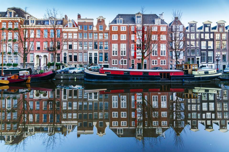 An Amsterdam Canal Landscape