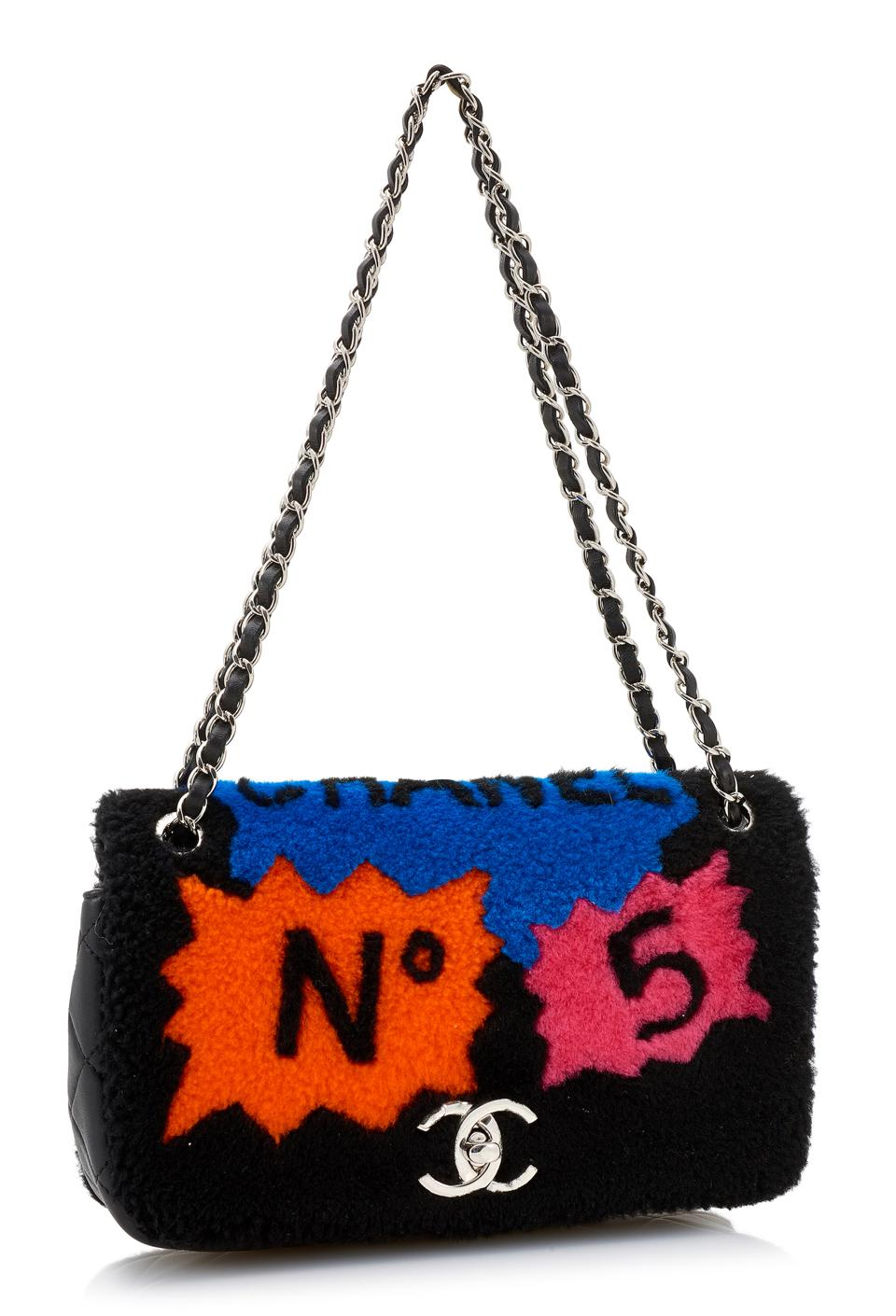 Shearling Pop Art-style Chanel shoulder bag, Fall 2014, ($1,650 - $2,750)
