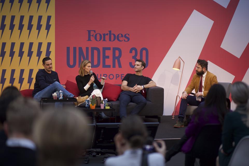 Fredrik Hjelm of Voi, Philipp Haas of Tier and Marguerite de Tavernost of Cherry Ventures.