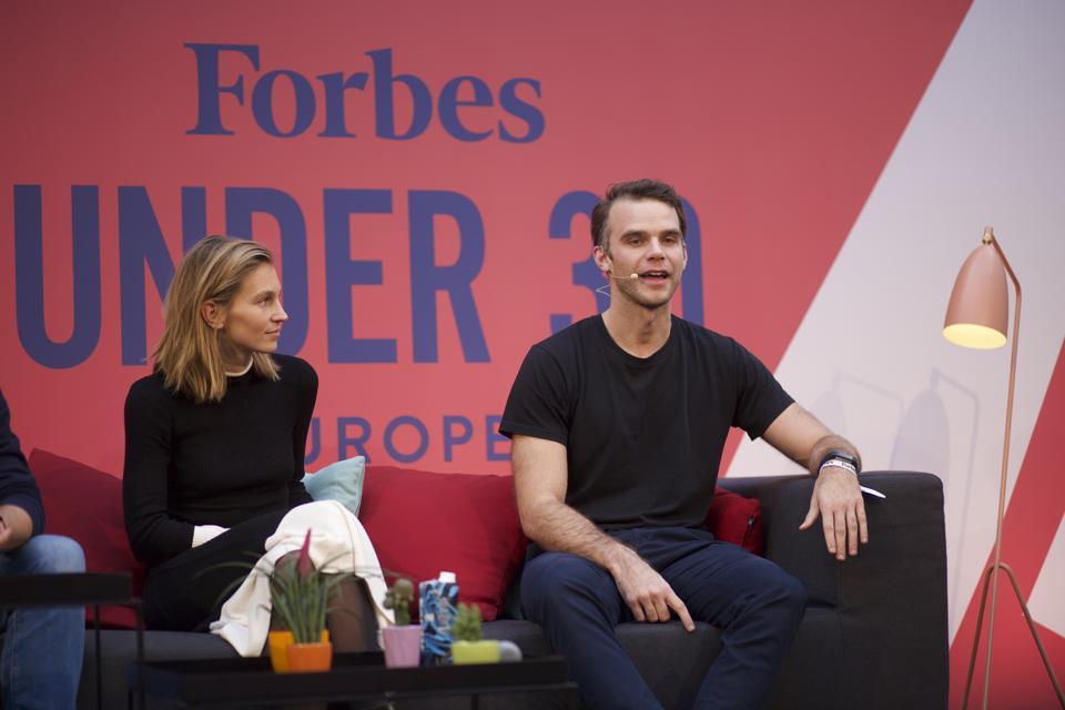 Marguerite de Tavernost of Cherry Ventures talks scooters with Voi CEO Fredrik Hjelm.