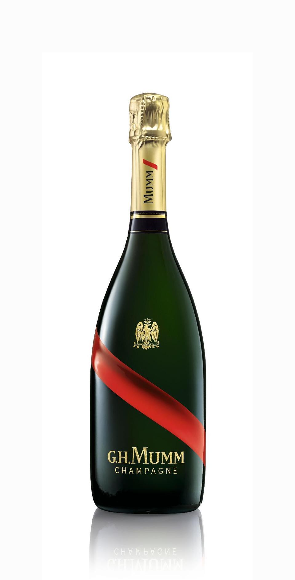 A bottle of G.H. Mumm Champagne