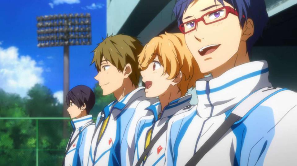 ″Free!″ gets its name from freestyle swimming.