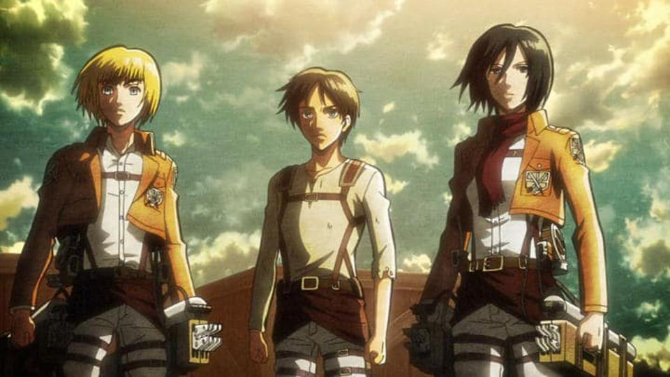 The three main protagonists of ″Attack on Titan.″