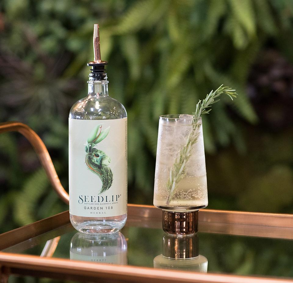 A Seedlip drink at the brand's first U.S. retail pop-up.