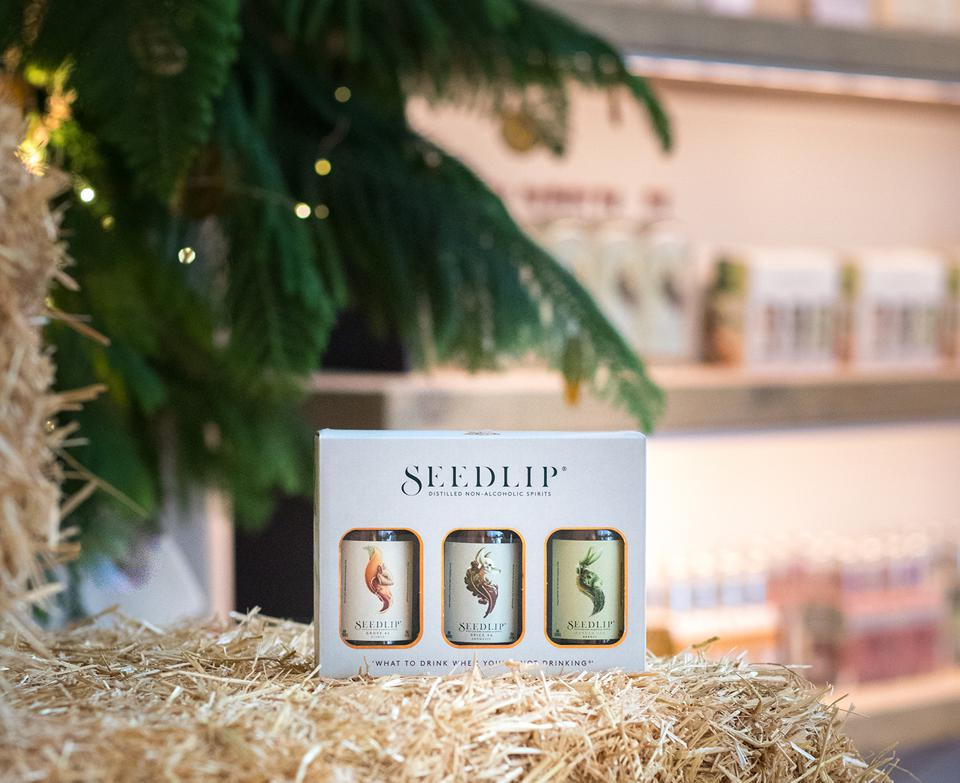 Some of the products for sale at the Seedlip General Store in downtown Los Angeles.