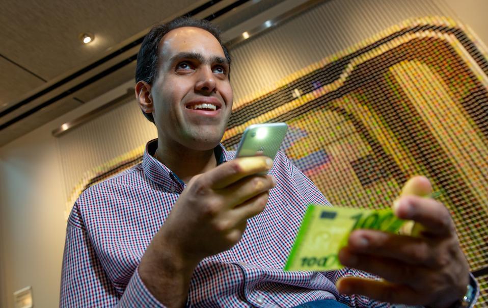 Microsoft Seeing AI Engineer Saqib Shaikh photographed at Studio C on the Microsoft campus