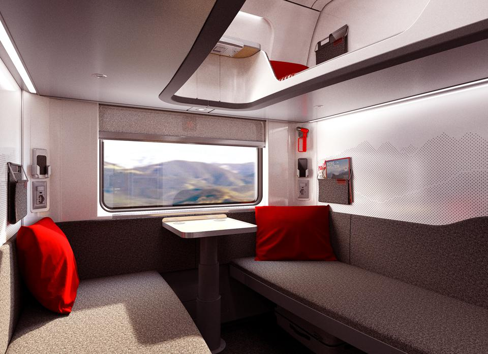 New Nightjet private compartment