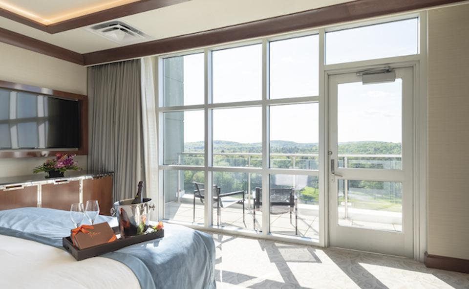 Some of the premium accommodations at Resorts World Catskills include balconies overlooking the Catskill Mountains