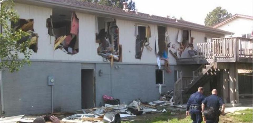 home destroyed by police