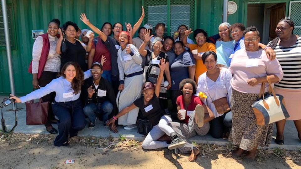 Grupa radosnych afrykańskich kobiet