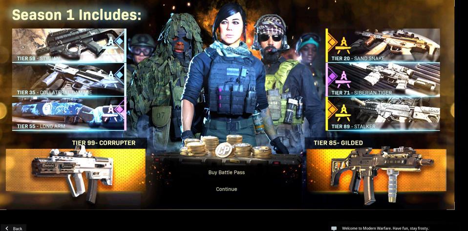 Call Of Duty Modern Warfare S Season 1 Battle Pass Is Live Here S What S In It