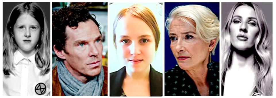 Extinction Rebellion, Benedict Cumberbatch, Emma Thompson