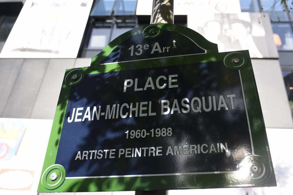 American Street Art Pioneer, Jean-Michel Basquiat, Immortalized In Paris