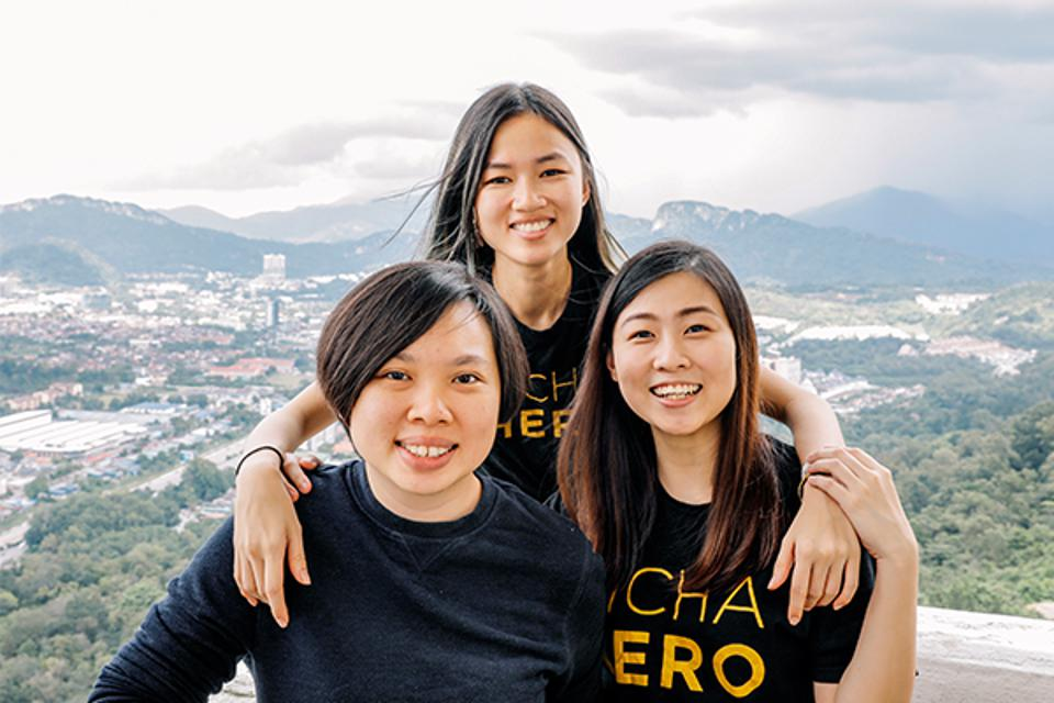 Fundadores do PichaEats: Kim Lim, Lee Swee Lin e Suzanne Ling.
