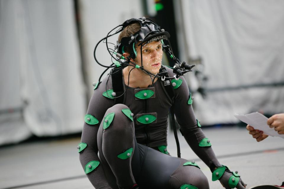 Man in motion capture suit