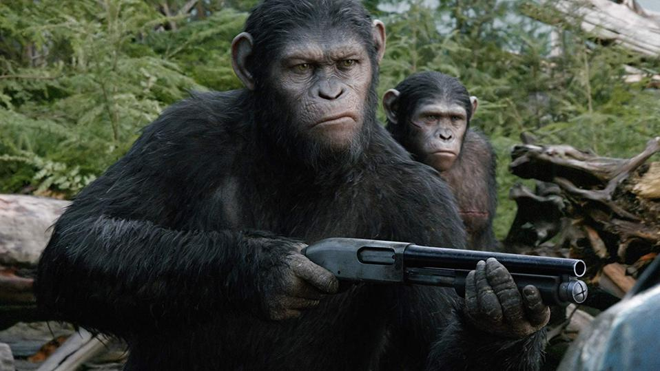 Andy Serkis and Nick Thurston in 'Dawn of the Planet of the Apes'