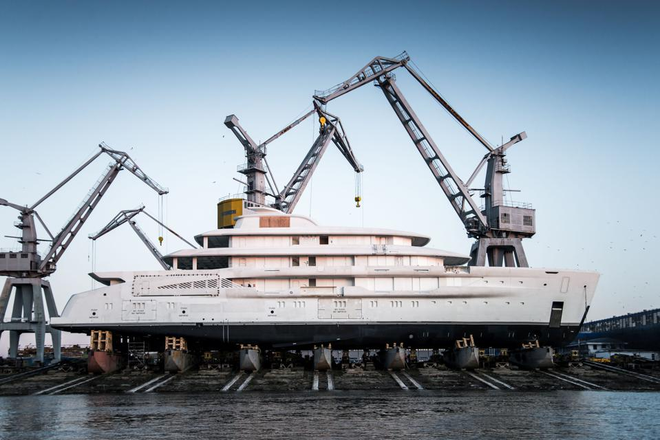 The largest superyacht by volume AMELS has built to date.