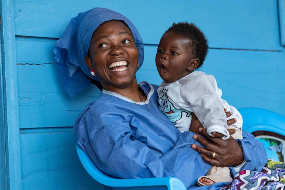 After Joniste Kahambu's 3-year-old son died of Ebola, she became a caregiver and ″lullaby singer″ at the UNICEF-supported nursery for babies whose parents are sick with Ebola in Butembo, Democratic Republic of the Congo.